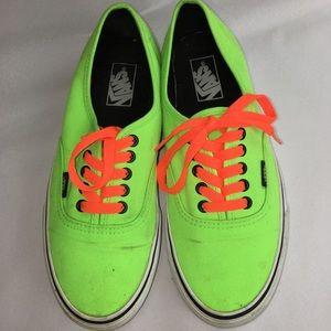 Neon Green & Orange Vans Skating Sneakers 8.5
